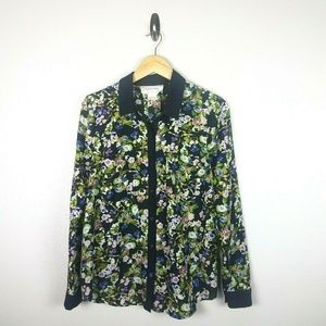 UO Coincidence & Chance Floral Blouse size Large